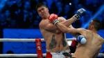Darko Milicic, left, fights Radovan Radojcin in Novi Sad, Serbia, on Dec. 18, 2014. (AP / Darko Vojinovic)