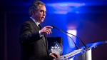 Alberta Premier Jim Prentice speaks in Edmonton on Tuesday, Dec 9, 2014. (The Canadian Press / Jason Franson)
