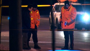 Police investigate near Finch Avenue East and Nielson Road after a 14-year-old girl was struck and killed. Police confirmed on Saturday, Dec. 20, 2014 that the vehicle involved was a TTC bus.