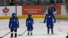 About 100 young hockey players had the privilege o