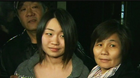 Standing with her parents at her North York home, Toronto teen Michelle Yu said thank you to her family, friends and media, after her disappearance prompted a city-wide search on Monday, April 23, 2012.
