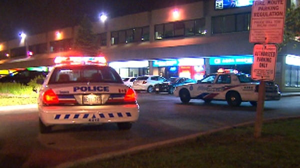 Toronto police are at the scene of an overnight stabbing at Kennedy and Steeles, Friday, April 27, 2012.