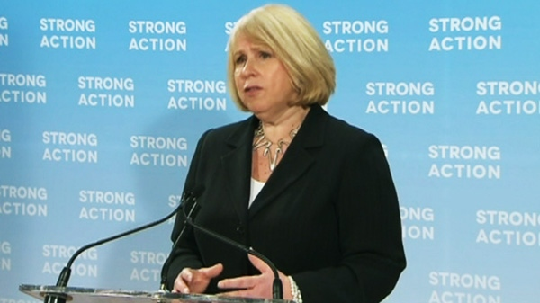 Health Minister Deb Matthews holds a press conference in Toronto on Monday, May 7, 2012.