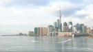 The Toronto skyline is seen from Polson Pier on Monday, Jan. 19, 2015.