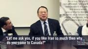 CTV Toronto: Iran comment caught on camera