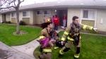 Helmet cam captures firefighters' rescue