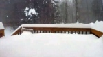Extended: Time-lapse of snow burying a deck