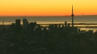 Extended: Sunrise over Toronto skyline