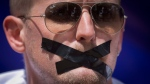 Wearing black tape to signify the silencing of the media in Nairobi, Kenya, on Feb. 27, 2014. (AP / Ben Curtis)