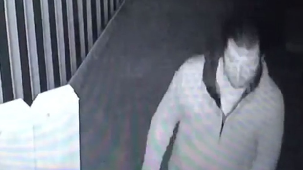 A suspect is shown in a security video released by Toronto Police Services.