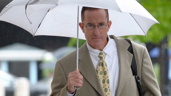 Former trainer Brian McNamee arrives at the Federal court in Washington, Monday, May 14, 2012. (AP / Susan Walsh)