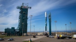 The United Launch Alliance Delta II rocket with the Soil Moisture Active Passive satellite onboard at Space Launch Complex 2, on Jan. 29, 2015. (AP / NASA, Bill Ingalls)