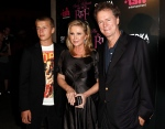 Conrad Hilton, left, is shown with his parents, Kathy and Rick Hilton, as they arrive at the launch party of new MTV series 'Paris Hilton's My New BFF' in Los Angeles on Sept. 30, 2008. (AP / Matt Sayles)