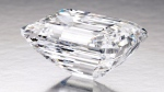 An emerald-cut white diamond that Sotheby's will auction on April 21 is expected to fetch between $19 million and $25 million, and is seen in this photo taken in January, 2015. (Sotheby's)