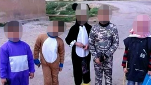 Children kidnapped by ISIS in Syria