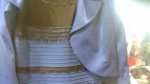 A dress that caused a controversy on social media on Thursday as people debated what colour it really is. (Tumblr / Swiked)