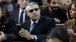 Mohamed Fahmy, centre, in court in Cairo, Egypt, on Feb. 23, 2015. (AP / Amr Nabil)