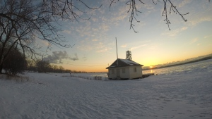 Cherry Beach is seen at sunrise early Friday, Feb. 27, 2015. (George Stamou / CTV News)