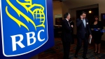 Shareholders leave the Royal Bank of Canada annual meeting in Calgary, on Feb. 28, 2013. (THE CANADIAN PRESS/Jeff McIntosh)