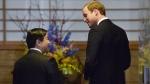 Prince William, right, and Japanese Crown Prince Naruhito in Tokyo, on Feb. 27, 2015. (AP / Kazuhiro Nogi)