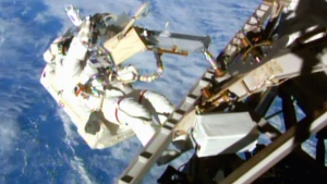 LIVE1: NASA space station spacewalk