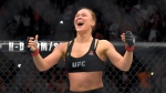 Ronda Rousey, celebrates after defeating Cat Zingano in a UFC 184 mixed martial arts bantamweight title bout, Saturday, Feb. 28, 2015, in Los Angeles. (AP / Mark J. Terrill)