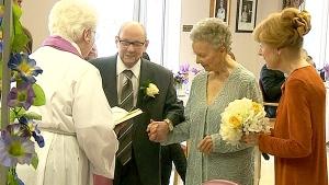 Love at last: Lifelong bachelor ties the knot at 8
