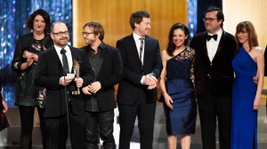 The best drama series for 'Orphan Black' is awarded at the Canadian Screen Awards in Toronto on Sunday evening, March 1, 2015. (Frank Gunn / THE CANADIAN PRESS)