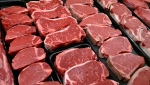 In this Jan. 18, 2010 file photo, steaks and other beef products are displayed for sale at a grocery store in McLean, Va. (AP Photo/J. Scott Applewhite, File)