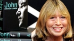 Cynthia Lennon, the first wife of Beatle's band member John Lennon, sits behind copies of her newly released book entitled 'John' during a book signing at Foyle's bookshop in central London, Sept 26, 2005. (AP / Jane Mingay, File)