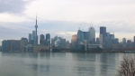 The Toronto skyline is seen from Polson Pier on Friday, April 10, 2015.