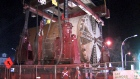 Extended: Tunnel boring machine on the move