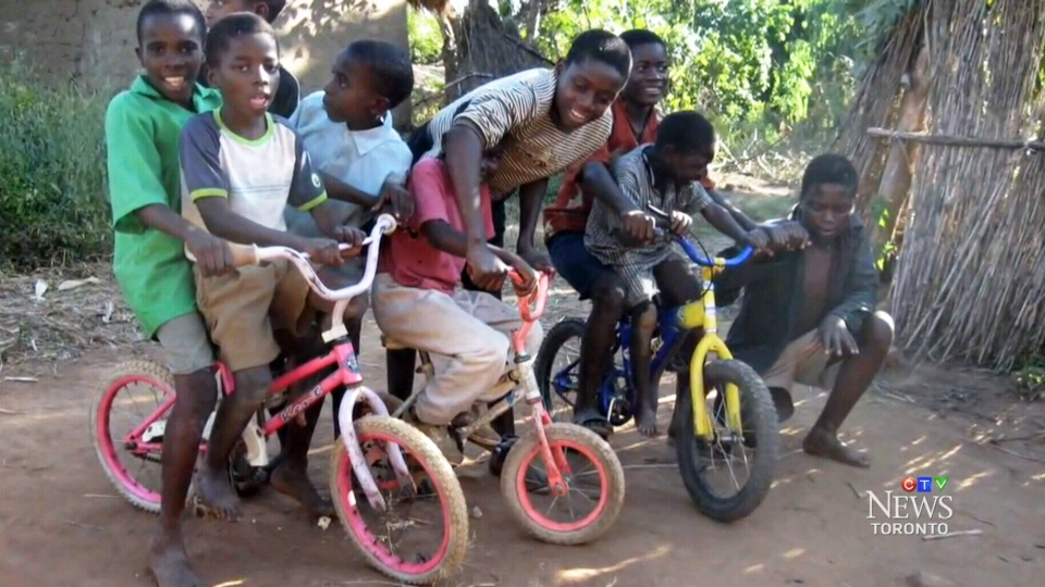 Canadians Donating Bikes To Africa Bikes in Malawi