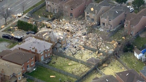 LIVE NOW: Aerial view of Scarborough house explosi