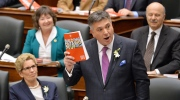 Ontario Finance Minister Charles Sousa tables the provincial budget at Queen's Park in Toronto on Thursday, April 23, 2015. (Nathan Denette / THE CANADIAN PRESS