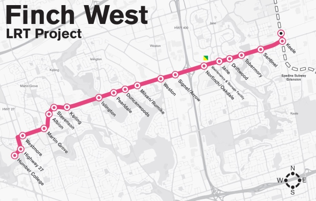 The Finch West LRT will service passengers who live in the west end of Toronto.