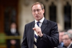 Justice Minister Peter MacKay rises during Question Period in the House of Commons on Parliament Hill in Ottawa on April 30, 2015 . (Adrian Wyld / The Canadian Press)