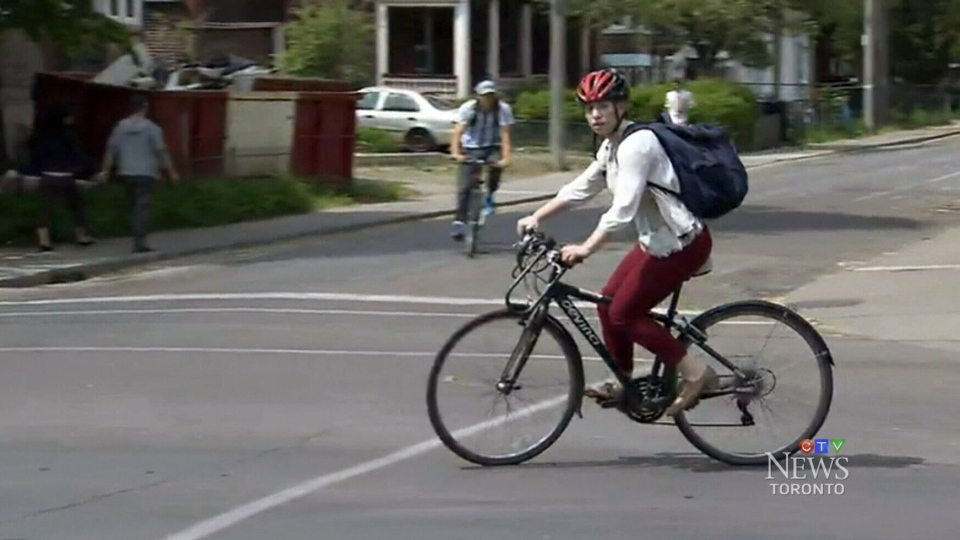 "A Toronto-based cycling advocacy group is lobbying the Ontario government to change a provincial law to allow bikers to do an ""Idaho stop,"" or a roll stop, on residential streets."