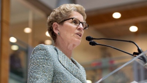 Ontario Premier Kathleen Wynne speaks during a press conference in Toronto on Friday, May 22, 2015. (Darren Calabrese / THE CANADIAN PRESS)