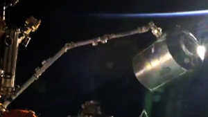 Extended: Canadarm2 moves module at the ISS