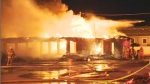 A building is seen ablaze in this undated file photo.