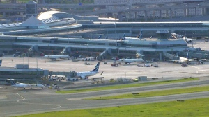 This photo shows Toronto Pearson from the CTV News Chopper on June 3.