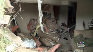 CTV Regina: Car crashes into basement