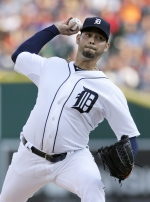 Detroit Tigers pitcher Anibal Sanchez delivers against the Toronto Blue Jays during the first inning of a baseball game Friday, July 3, 2015, in Detroit. (AP / Duane Burleson)