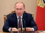 Russian President Vladimir Putin speaks at a Security Council meeting in the Kremlin in Moscow, Russia, Friday, July 3, 2015. (Alexei Nikolsky/RIA-Novosti, Kremlin Pool Photo)