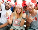 There was no shortage of Canadian fans to watch women's baseball despite Canada's loss to the United States in the gold medal game at the Pan American Games in Ajax, Ont. on Sunday July 26, 2015. (Fred Thornhill/THE CANADIAN PRESS)