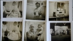 Photographs of Beth Allen taken by her father, show her at Dr. Martin Couney's Coney Island incubator sideshow, where she was on display with others after she was born premature in 1941 in this photo taken at Allen's home on July 23, 2015. (AP / Mel Evans)