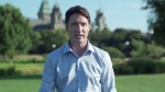 This screenshot from a Liberal campaign video shows Justin Trudeau responding to Conservative claims he's 'not ready' to be prime minister (Youtube/Liberal Video)