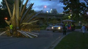 A man has been rushed to hospital with life-threatening injuries after a stabbing on the Canadian National Exhibition grounds.