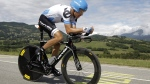 Tom Danielson of the U.S. rides during the 20th stage of the Tour de France cycling race, an individual time trial over 42.5 kilometers (26.4 miles) starting and finishing in Grenoble, Alps region, France, Saturday July 23, 2011. (AP / Laurent Cipriani)